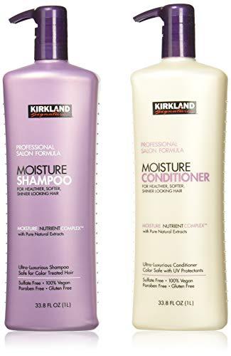 Kirkland Signature Salon Formula Moisture Shampoo & Conditioner, 33.8 Ounce ()