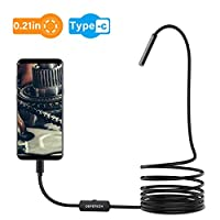 USB Endoscope, DEPSTECH 5.5mm Waterproof Borescope Semi-Rigid Snake Inspection Camera for OTG USB-C Android Devices Samsung Note8/S8, Google Pixel