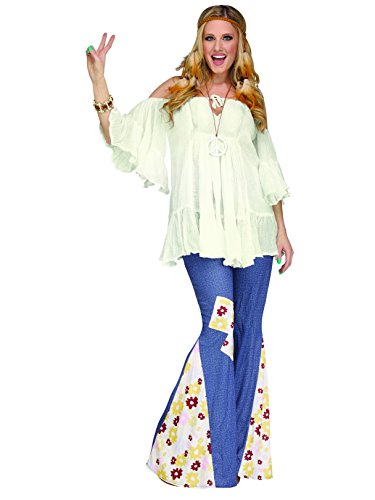 Hippie Gauze (Hippie Gauze Top Costume - One Size - Dress Size 4-14)