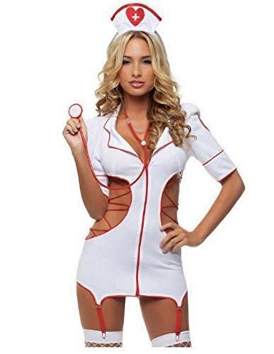 Sweet Sexy Nurse Costumes (Sexy Lingerie Nurse Costume Adult Women Halloween Outfit Fancy Dress)