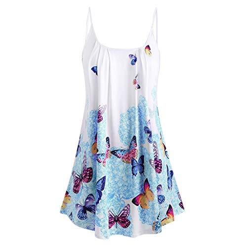 Chiffon Jordan Skirt - New 2019 Haalife◕‿ Women's Summer Cool Casual Sleeveless Pleated Chiffon Layered Cami Tank Top Blue