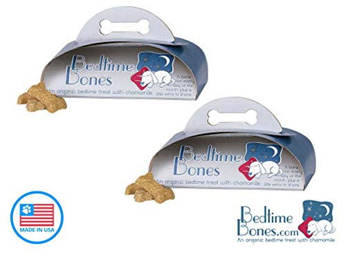 (Two Pack) Bedtime Bones Are made with Chamomile to Help Your Dog Sleep All-Natural Dog Treat with Organic ingredients