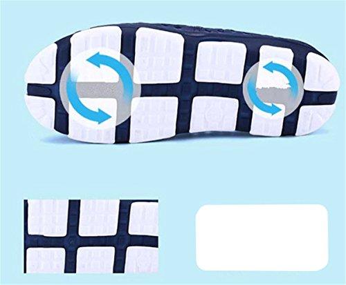 Bininbox Mens Sandali Piatti Lacci Delle Scarpe Traspiranti Punta Chiusa Foro Morbido Blu