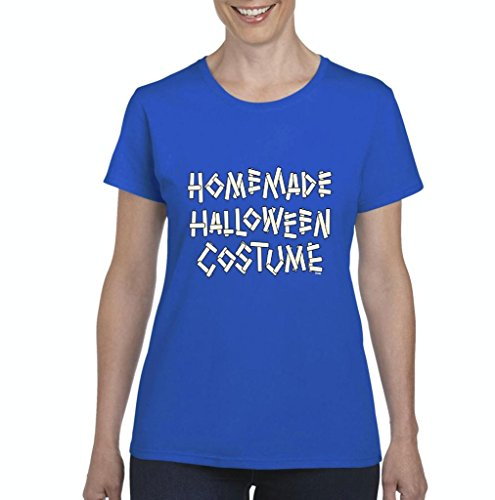 Blue Tees Homemade Halloween Costume Fashion Party People Best Friends Gift Couples Gifts Women's T-shirt Tee Clothes Medium Royal (Homemade Costume Dog Halloween)