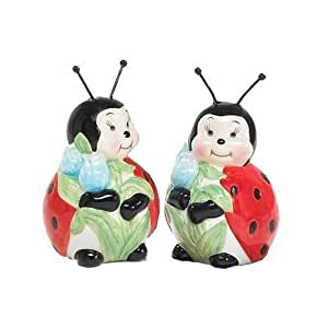 Adorable Ladybug Salt And Pepper Shakers For Kitchen Decor Great Gift Item New