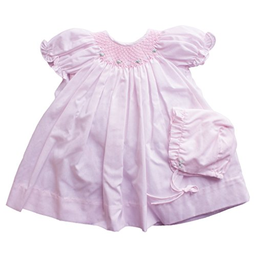 - Petit Ami Baby Girls' Bishop Smocked Daydress, 9 Months, Pink
