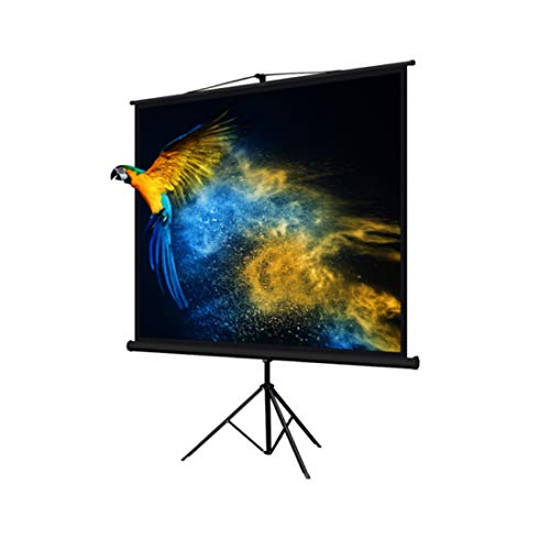 Kosycosy Portable Projector Screen High Contrast Collapsible PVC HD 4K Design with Hanging Hole Grommets for Front Projection Home Indoor and Outdoor Movie Match Party (Pull Up 100