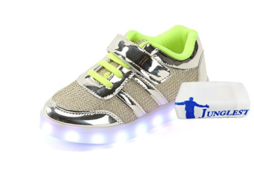 (+Small towel)The new LED lamp lights shoes shoes Korean men and women shoes USB charging light emitting luminescent seven color baby c1