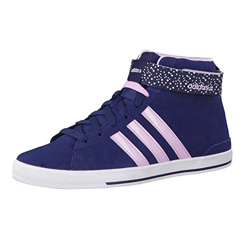 adidas Fashion Sneakers Womens Trainers Daily Twit Mid Sport Shoes High Top Navy/Pink New F98626 (Size: 8/UK 6.5/EU 40)
