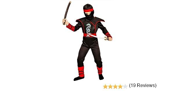 Magi Coo Cobra Ninja Disfraz para Niños Niño Disfraz Rojo y Negro ...
