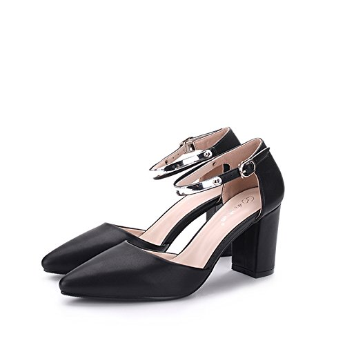 FLYRCX Dame Mode Persönlichkeit Dame FLYRCX scharfe rauhe Ferse Ferse Schuhe Europäische Größe  32-40 b1af12