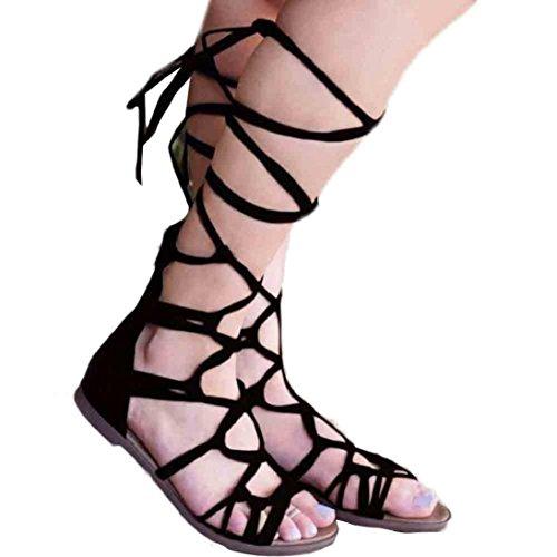 Fheaven Women Bohemian Summer Casual Shoes High Boots San...