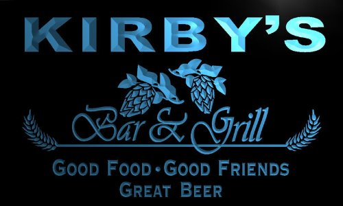 pr725-b Kirby's Bar & Grill Beer Wine Neon Light Sign
