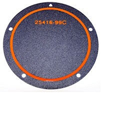 Orange Cycle Parts 5 Hole Derby Cover Foamet for Harley Twin Cam 1999-2017