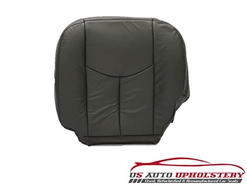 Leather Seat Cover Dark Gray us auto upholstery 05 06 Chevy Silverado 2500 LT-Driver Side Bottom