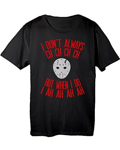 Friday 13th Jason Halloween Costume Men's T-shirt Black Medium (Friday The 13th Jason Teen Costume)