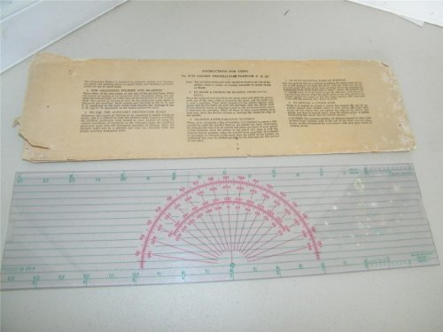Vintage P 72 Course Protractor Plotter 4 X 15 Inches w/ Sleeve Nautical 8029 ()