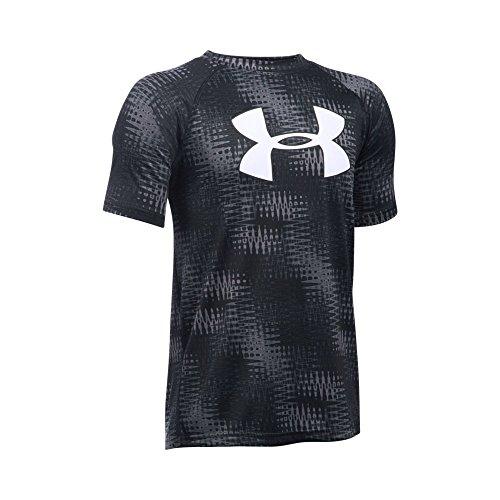 Under Armour Boys' Tech Big Logo Printed Short Sleeve T-Shirt, Graphite/Black, Youth Large