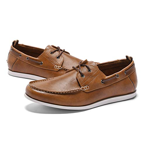 - GM GOLAIMAN Men's Boat Shoes Slip On Stylish Fashion Sneaker Casual Loafer Brown 7