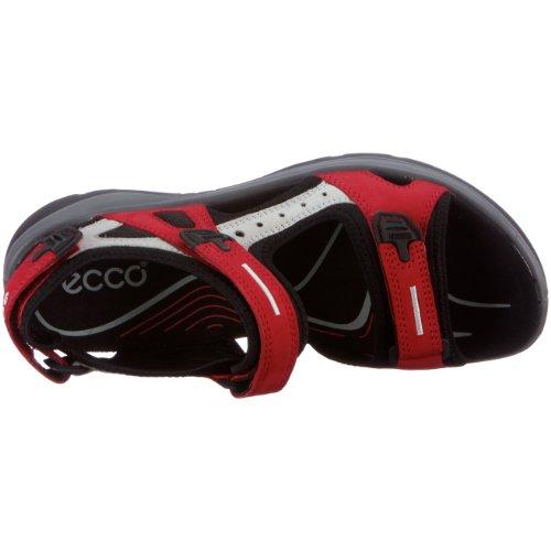 Femme Ecco Nub Conc Sandales de Nub Tex55287 Black Sport Rouge Chilir Offroad wISqIrcA