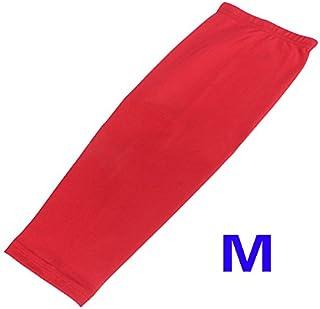 ginocchio manica lunga - TOOGOO(R) Antiscivolo Sport Pallacanestro Ciclismo Stretch Leg Protector Vitello Ginocchio manica lunga - rosso