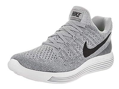 Nike Women Lunarepic Low Flyknit 2 Running (Wolf Grey/Black-Cool Grey-Pure Platinum) Size 5.0 US