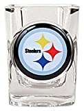 1 X Pittsburgh Steelers Official NFL 2 fl. oz. Square Shot Glass by Great American Products by Caseys