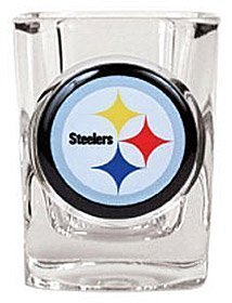 1 X Pittsburgh Steelers Official NFL 2 fl. oz. Square Shot Glass by Great American Products by Caseys by Casey's
