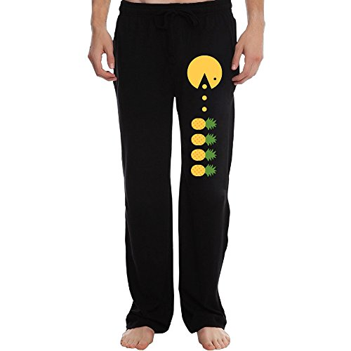 PTR Men's Pineapple Emoji Workout Pants Color Black Size 3X