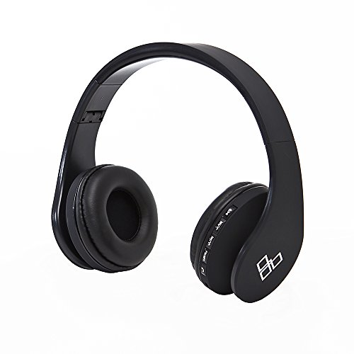VLISS - Wireless Gym Headphones - Bluetooth Workout Headphones - Headphones For Working Out & Weightlifting - Sweat Resistant - 30 Feet/10 Meter Range - Adjustable - Matte Black