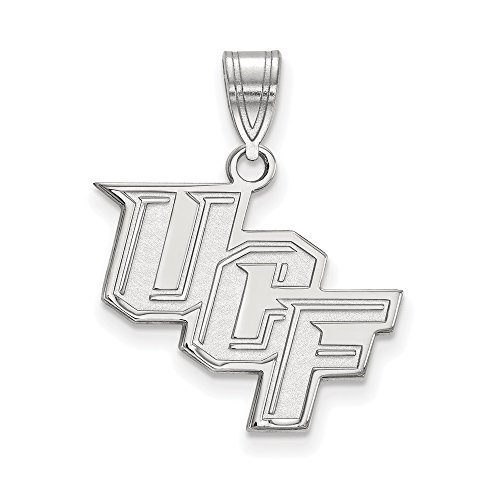 Central Florida Medium (5/8 Inch) Pendant (10k White Gold) by LogoArt