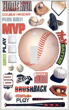 Baseball Montage Switchplate - Switch Plate Cover