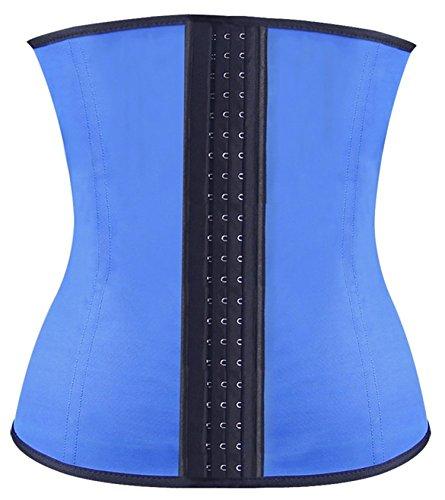 womens latex steel bone tummy control waist training corset m