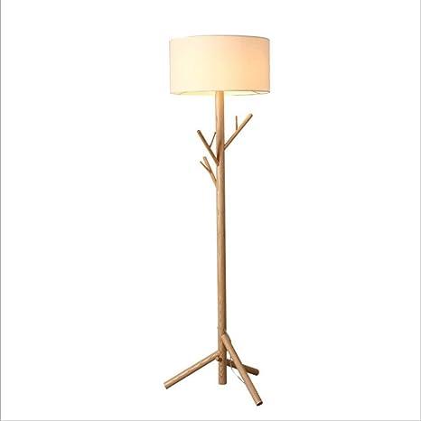Towero Lámpara de pie nórdica de madera maciza árbol 杈 ...