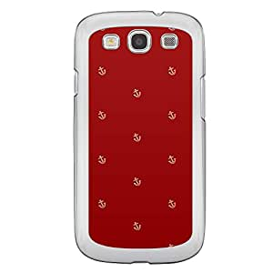 Loud Universe Samsung Galaxy S3 A Nautical 8 Printed Transparent Edge Case - Red