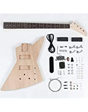 $159 » Leo Jaymz DIY Electric Bass Guitar Kits - Mahogany Body, Maple Neck and Rosewood Fingerboard - Fully Components Included (AX)