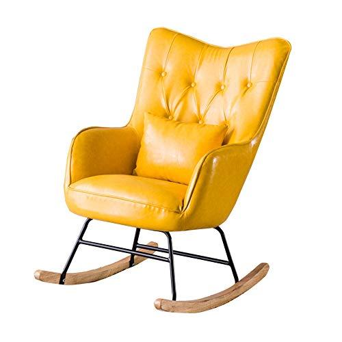 YaGFeng Mecedora Mecedora cojín del Asiento del sillón Inicio Tumbona Adecuado for Sala de Estar Dormitorio balcón…