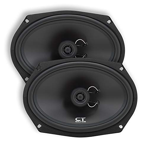 (CT Sounds Bio 6x9 Inch 2 Way Silk Dome Coaxial Car Speakers (Pair))