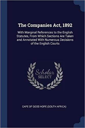 Buy The Companies Act, 1892: With Marginal References to the