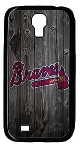 Atlanta Braves logo - diy Samsung Galaxy S4 I9500 case - PC Black