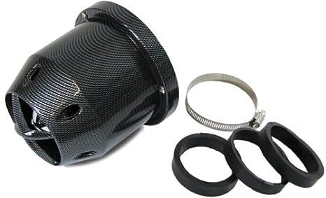 Flow Jet Sport filtro de aire con adaptador 60/65/70 mm Carbon: Amazon.es: Coche y moto