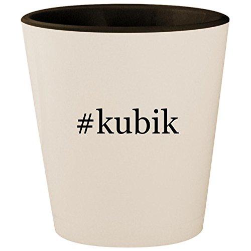 - #kubik - Hashtag White Outer & Black Inner Ceramic 1.5oz Shot Glass