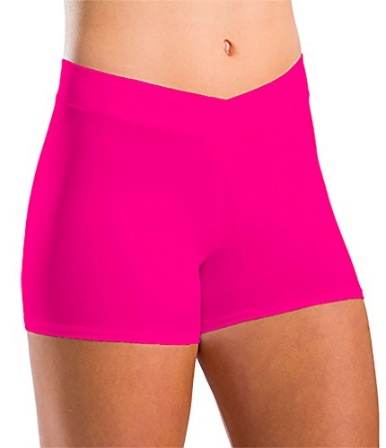 Motionwear Girl's V-Waist Elastic-Free Shorts L - Shorts Motionwear