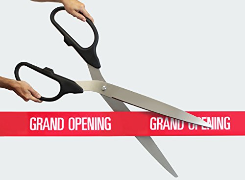 FREE Grand Opening Ribbon with 36'' Black/Silver Ceremonial Ribbon Cutting Scissors by Engraving, Awards & Gifts
