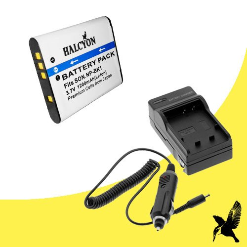UPC 847413094710, Halcyon 1200 mAH Lithium Ion Replacement Battery and Charger Kit for Sony Cyber-shot DSC-W370 14.1 MP Digital Camera and Sony NP-BK1