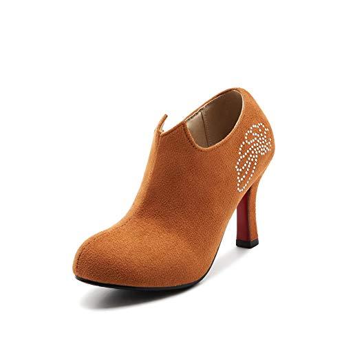 APL10516 Studded Womens Pumps Solid Dance Brown Ballroom Shoes Urethane BalaMasa 8x7Rwqx