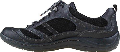 Earth Women's Redroot Walking Shoe,Black Nubuck,8 M US