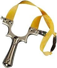Nine crowns Slingshot, Stainless Steel Slingshot, Shooting Game Catapult, Outdoor Hunting Slingshot