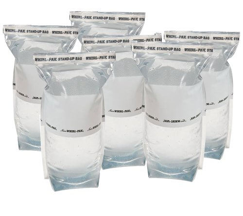 6 Whirl-Pak 36 oz. (1 L) Stand-up Bags for Emergency Water Collection, Treatment, and Storage