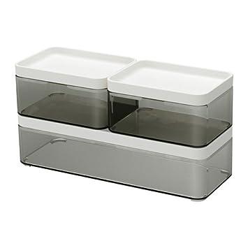 IKEA BROGRUND Boxen Badezimmeraufbewahrung; 3er-Set: Amazon ...